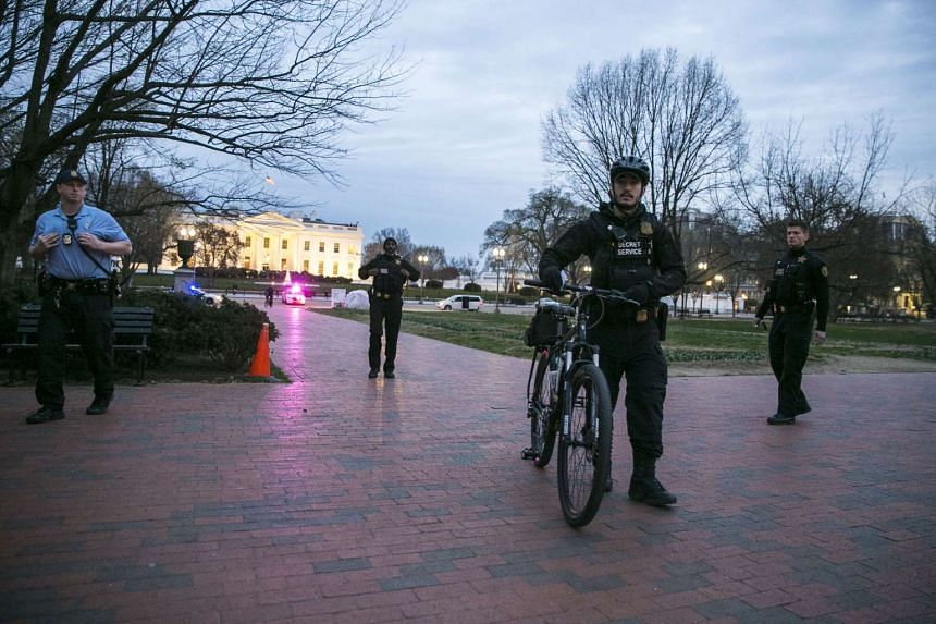 Uniformed Secret Service officers outside the White House in Washington, March 6, 2017.