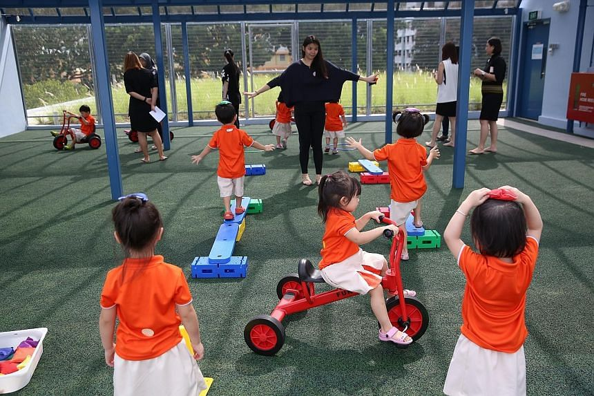 One of the chain's centres in Jurong West, where children get more space to explore.