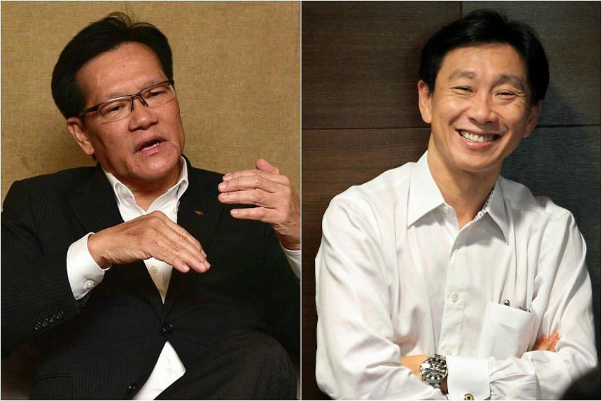 Long-time Football Association of Singapore (FAS) council member Lim Kia Tong (left) will go up against Bill Ng, chairman of S-League side Hougang, in the FAS' first-ever contested election for a new football chief.