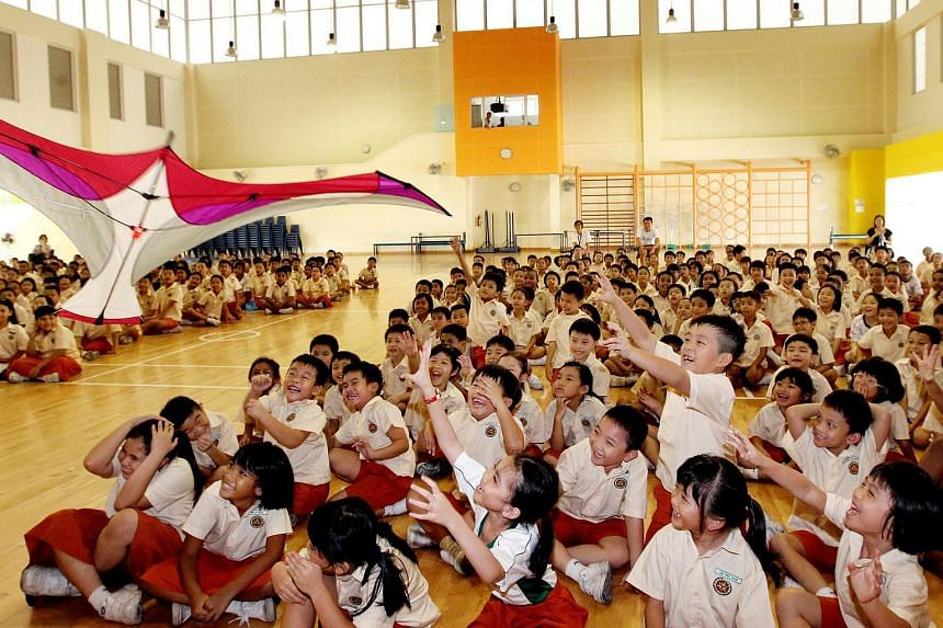 The three schools which will be part of the pilot project are East View Primary School, Junyuan Primary School (above) and Tampines Primary School.
