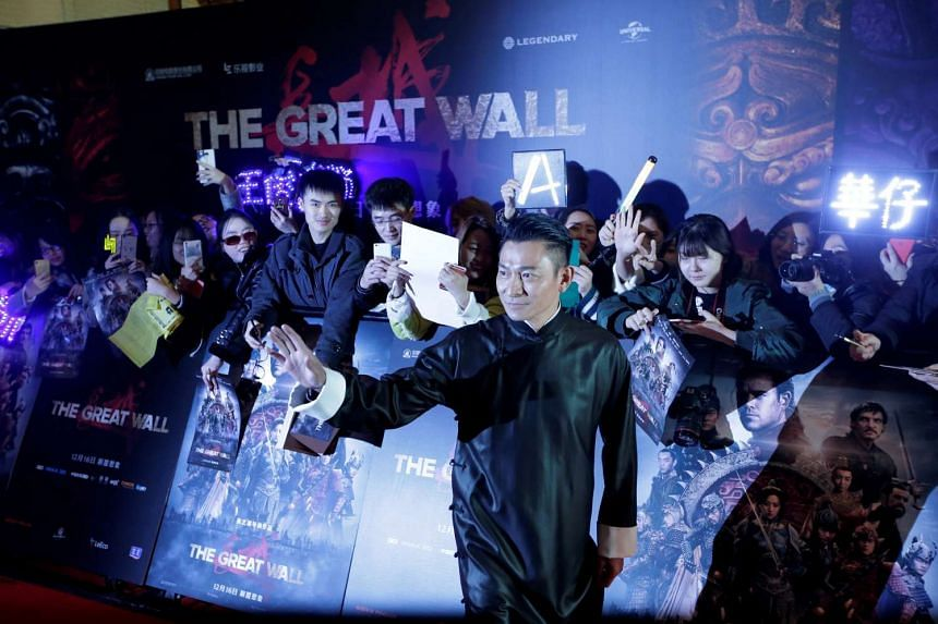 Hong Kong actor Andy Lau attends a red carpet event promoting Chinese director Zhang Yimou's film Great Wall in Beijing, China, on Dec 6, 2016.