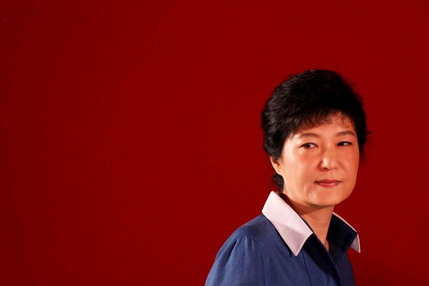 Ms Park Geun Hye was thrown out of office over accusations of colluding with a friend to pressure big businesses to donate to the two foundations, Mir and K-Sports.
