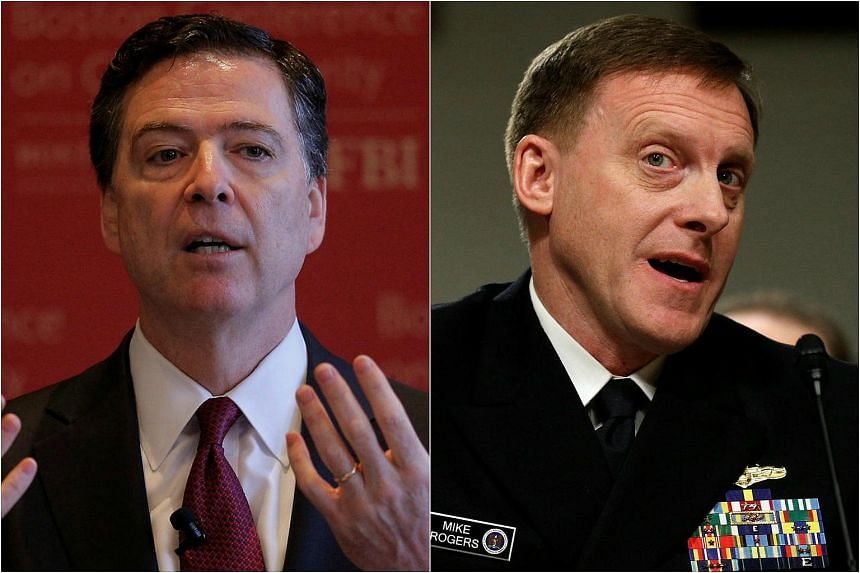 FBI Director James Comey (left) and Admiral Mike Rogers, director of the National Security Agency (NSA), will appear on Monday (March 20) before the House Intelligence Committee to speak about alleged Russian meddling in the 2016 US elections.