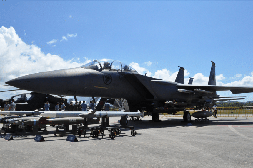The RSAF's F-15SG inaugural participation in LIMA 2017.