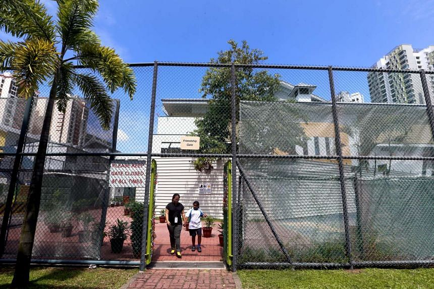 The only gate (friendship gate) that links a mainstream and special education school in Singapore.