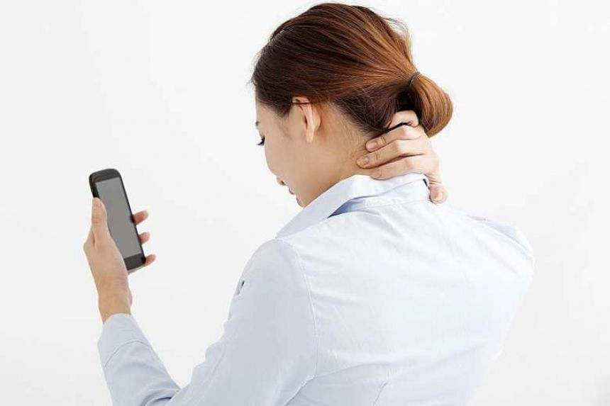 A 30-degree downward tilt while reading a hand-held device can exert 18kg of stress on the spine.