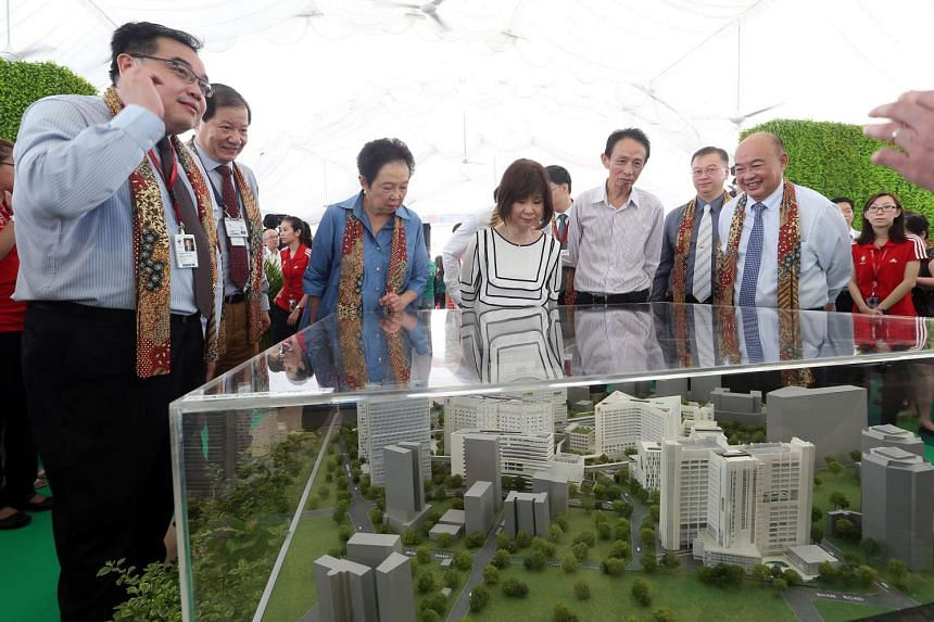 The groundbreaking ceremony of the new integrated care hub at Tan Tock Seng Hospital, which will bring together rehab and palliative care services.