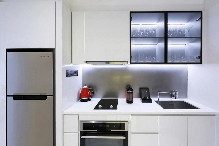 A two-bedroom apartment kitchen.