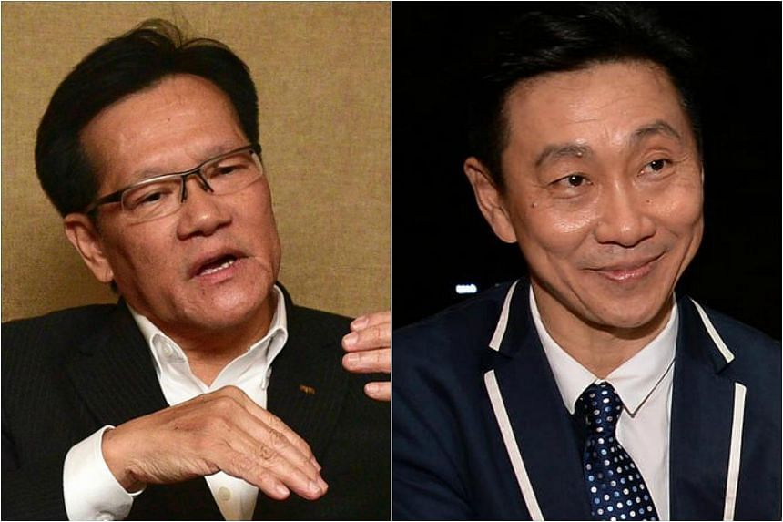 FAS provisional council president Lim Kia Tong (left) is likely to be contesting for the president's job against Hougang United chairman Bill Ng.