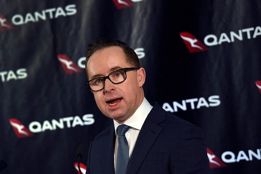 Qantas chief executive officer Alan Joyce speaking during a press conference in Sydney, on Feb 23, 2017.