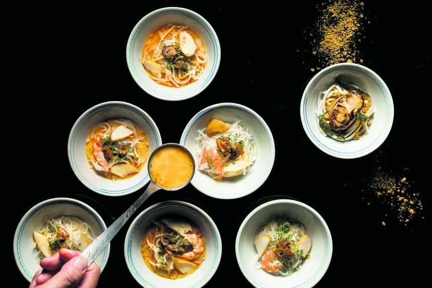 The humble laksa is elevated and made luxe at Restaurant Labyrinth.