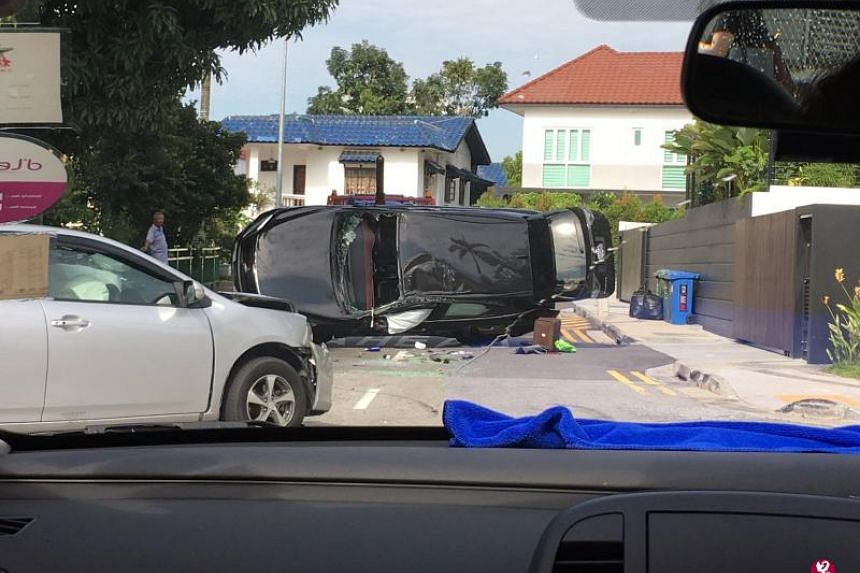 The 56-year-old man was extricated from his vehicle and taken to Tan Tock Seng Hospital.
