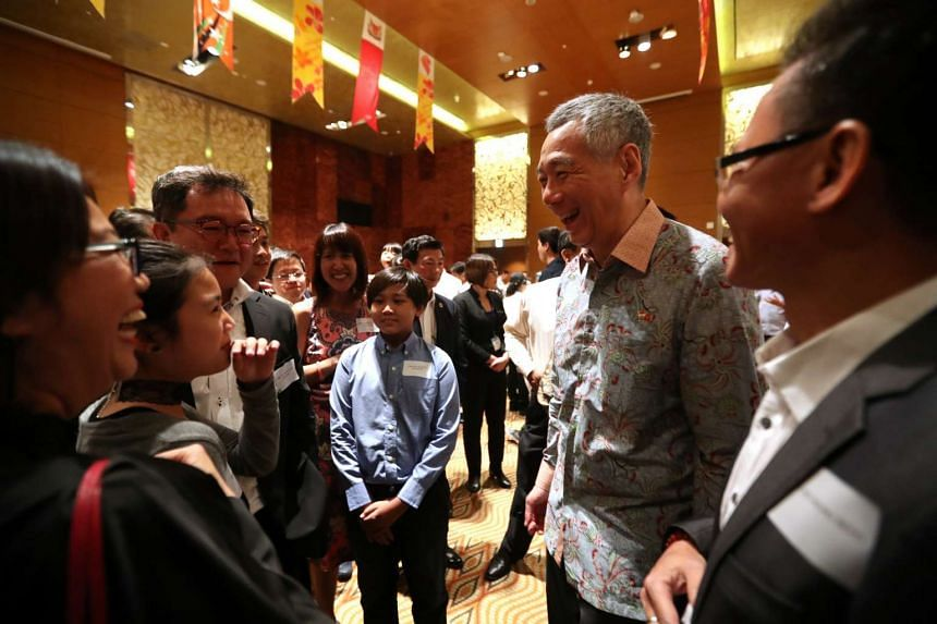 Prime Minister Lee Hsien Loong at the dinner reception with Singaporeans in Ho Chi Minh City on March 21, 2017.