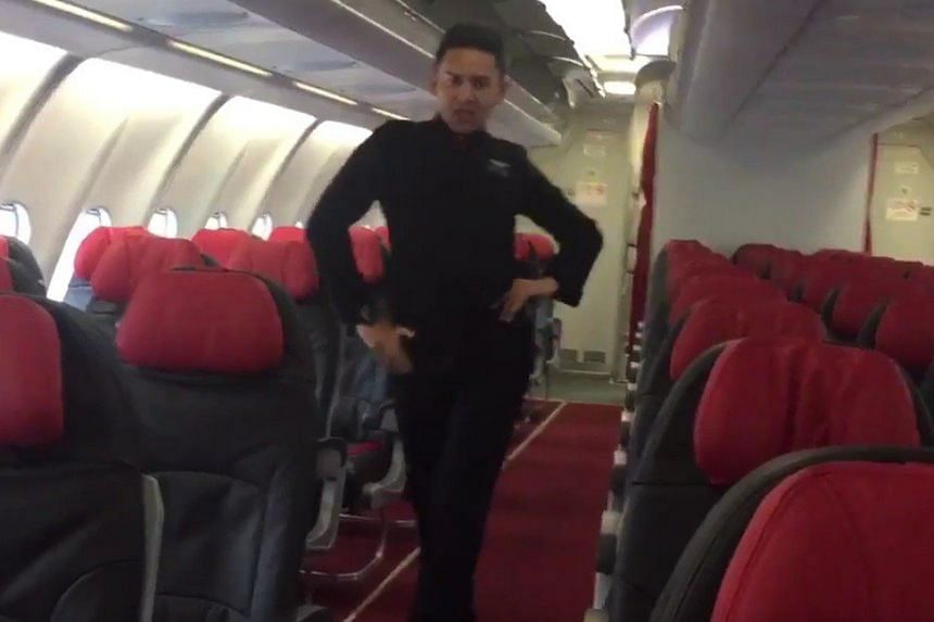 Assraf Nasir, the flight attendant in the video, is seen walking up and down the aisles of the empty Airbus A330, dancing against doors, and pushing a food trolley as Spears does in the original video.