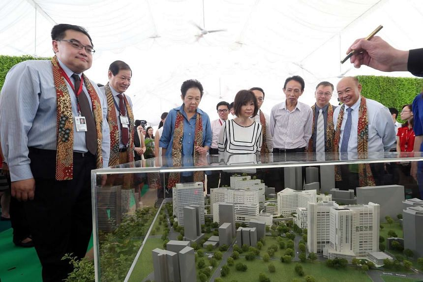 The groundbreaking ceremony of The Integrated Care Hub at Tan Tock Seng Hospital which will bring together rehab and palliative care services.