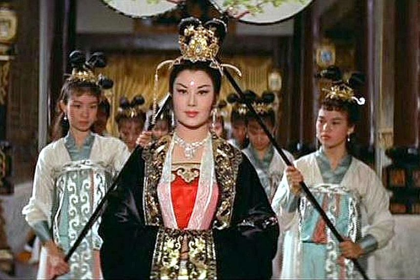 Li Li-hua was the first Chinese actress to star in a Hollywood movie - China Doll (1958), opposite Victor Mature. Li Li-hua in a 1993 photo, and in Empress Wu (1963, above), which was among her best-known films.