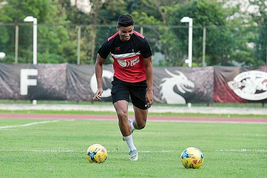 Irfan Fandi's height and physique, says national coach V. Sundramoorthy, will be crucial factors in his development as a central defender in the absence of centre-back Baihakki Khaizan.