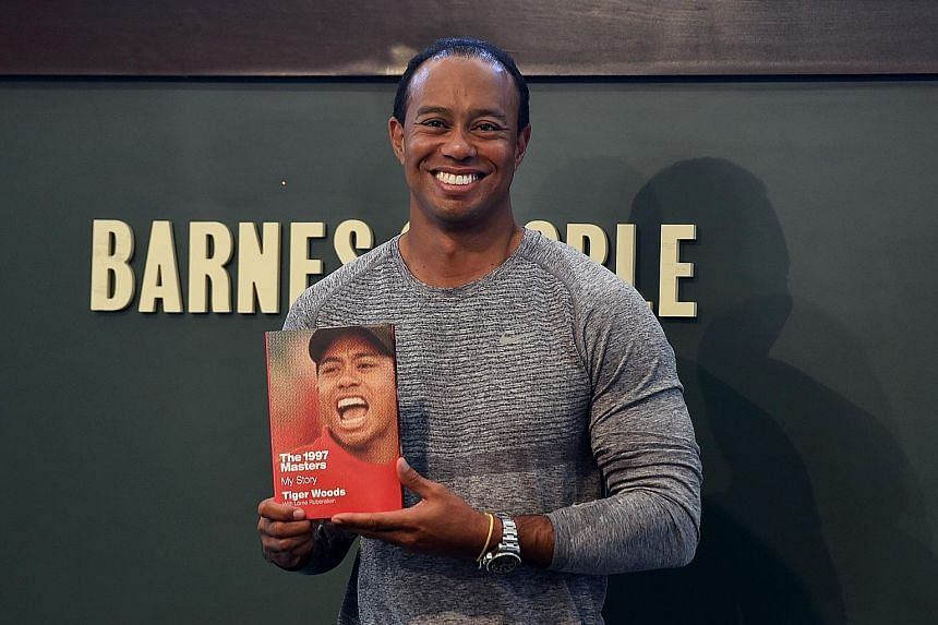 14-time Major winner Tiger Woods was all smiles at the signing of his new book The 1997 Masters: My Story. Woods is hoping to make his return from injury at the Masters, which will be held from April 6-9.