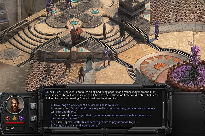Like Planescape Torment, Tides Of Numenera is rather more dialogue-driven than it is combat-oriented.