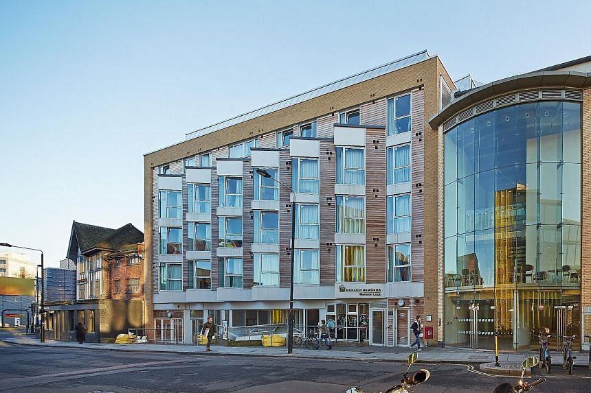 Properties in the Mapletree Global Student Accommodation Private Trust include Hawley Crescent (left), which is close to universities in London such as Imperial College and University College London.