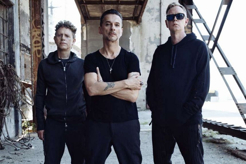 Depeche Mode's (from left) Martin Gore, Dave Gahan and Andy Fletcher take on subjects such as the de-evolution of society, misinformation and misguided leaders in their album Spirit.