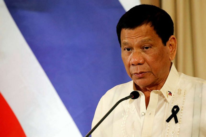 Philippine President Rodrigo Duterte attends a news conference at the Government House in Bangkok, Thailand on March 21, 2017.