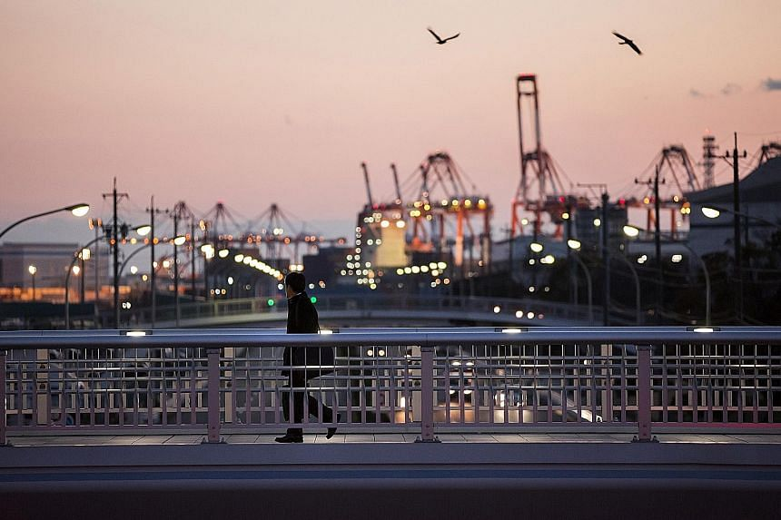 Japan's Nagoya port. Latest trade data highlights an economic recovery in Japan led by overseas demand.