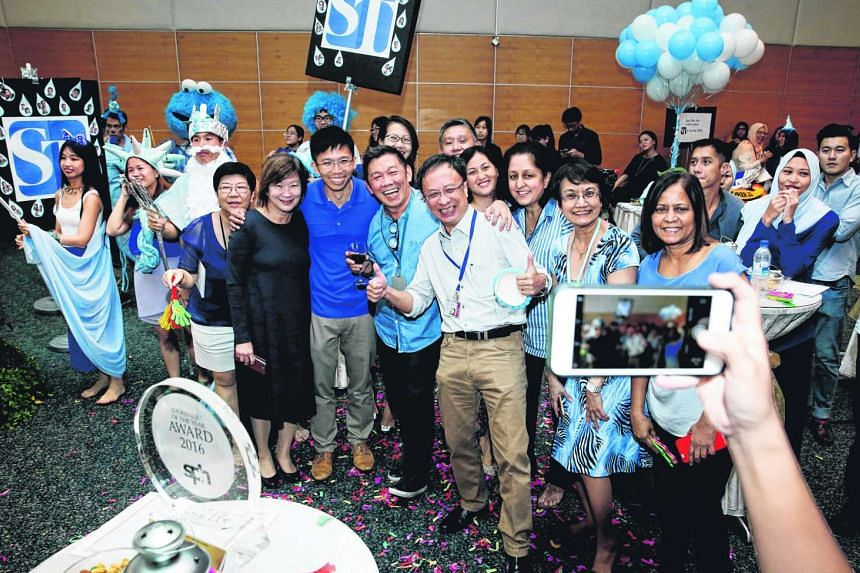 Straits Times' senior transport correspondent Christopher Tan was named Journalist of the Year at SPH's annual awards ceremony on March 22, 2017.