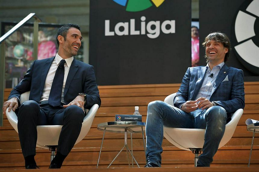 Former Real Madrid players Fernando Sanz and Fernando Morientes are in Singapore to promote the Spanish league.