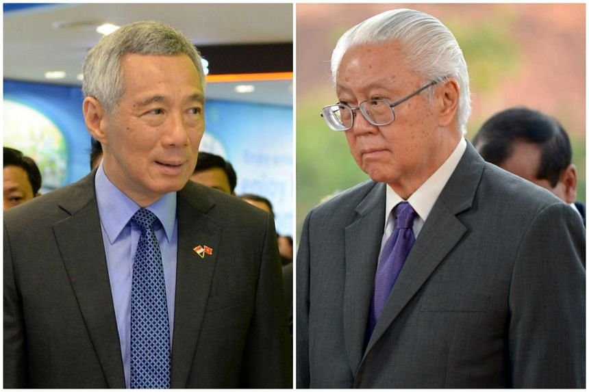 Prime Minister Lee Hsien Loong (left) and President Tony Tan Keng Yam.