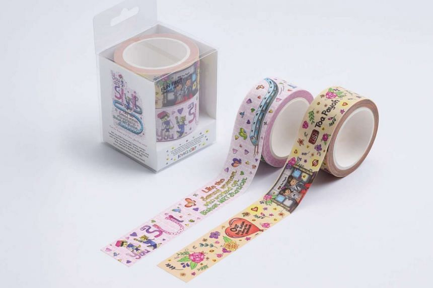 Commuters' contest entries inspired these Love Edition adhesive tapes.