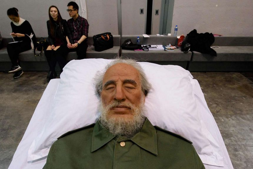 Chinese artist Shen Shaomin's Fidel Castro, which is part of his 'Summit' project, at Art Basel in Hong Kong.