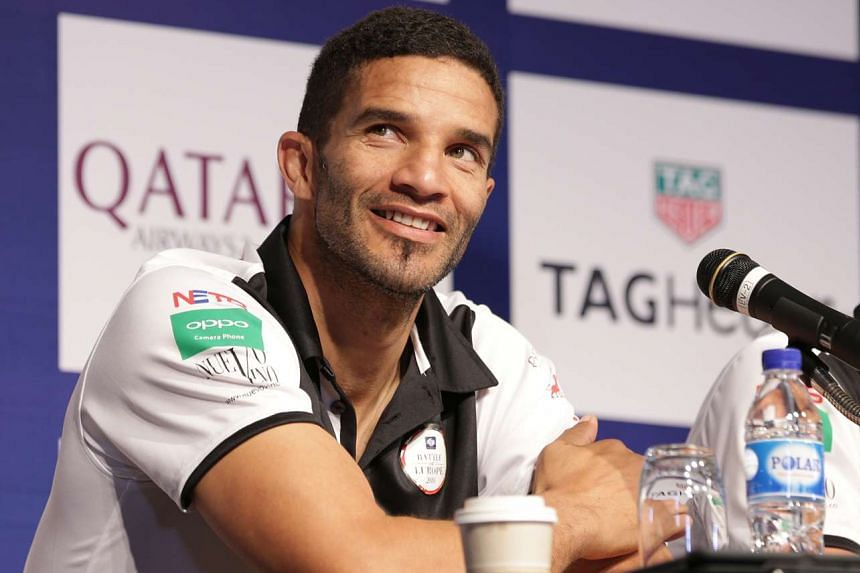 David James at a press conference for the Battle of Europe 2016 — England Masters v Germany Masters, in Singapore last year.