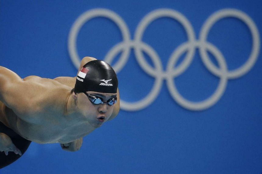 Swimmer Joseph Schooling during the Rio 2016 Olympic Games men's 100m freestyle semi-final at the Olympic Aquatics Centre in Rio de Janeiro, Brazil, on Aug 9, 2016.