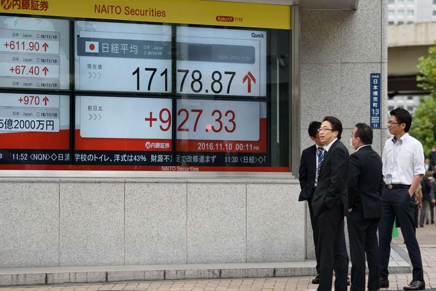 Japan's Topix index climbed, recovering some of this week's slide, as the yen dropped for the first time in nine days.
