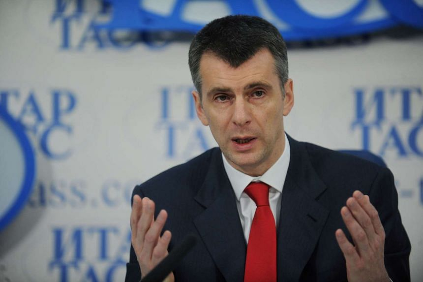 Prokhorov (above, in a 2012 file photo) is estimated by Forbes to have a US$8.8 billion (S$12 billion) fortune.