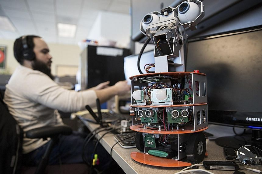 A Neurala developer with a robot whose software was made by the artificial intelligence start-up. Despite fears of Chinese access to such innovations, some start-ups say Chinese money is sometimes the only available funding.