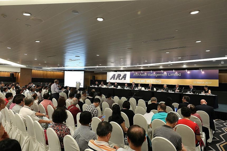 At a shareholder meeting yesterday, 81.16 per cent of shareholders present and voting in person or by proxy were in favour of the buyout through a scheme of arrangement, said ARA.