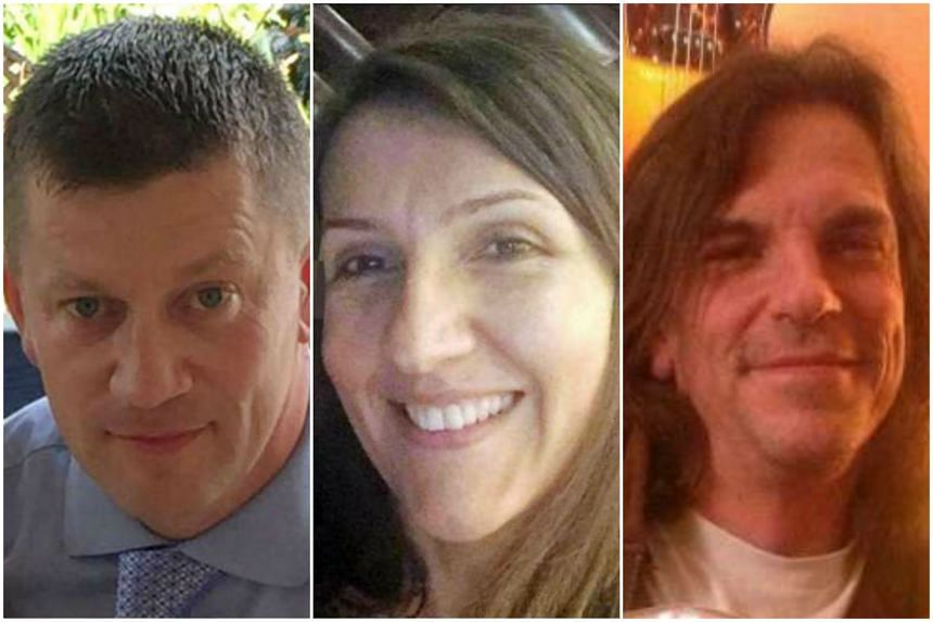 (From left) Police officer Keith Palmer, teacher Aysha Frade and Mr Kurt Cochran were victims of the terror attack at London's Parliament