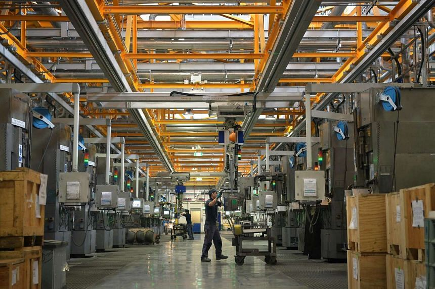 The cell production line at REC Solar ASA manufacturing facility in Tuas.
