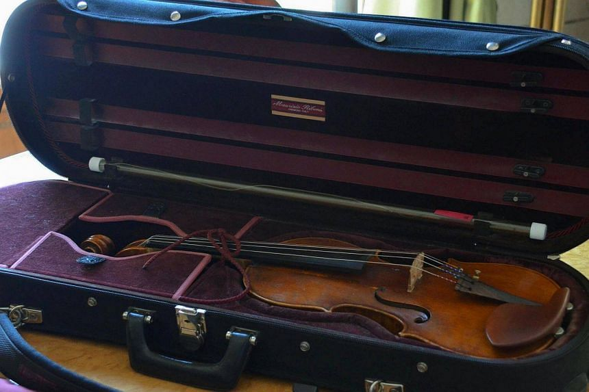 A photo released by the Ministry of Interior Affairs of Serbia of a precious violin stolen nearly two years ago in Paris.