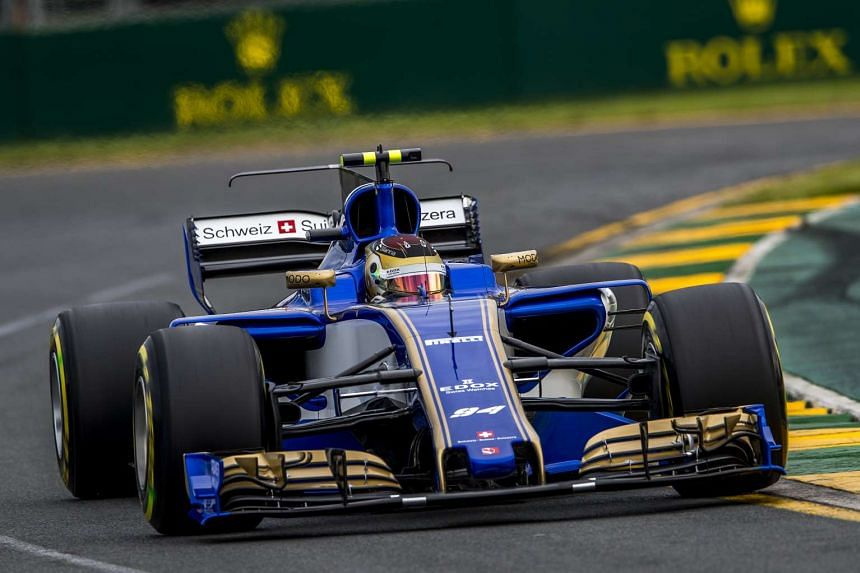 German Formula One driver Pascal Wehrlein of Sauber F1 Team steers his car during the second practice session at the Albert Park circuit in Melbourne, Australia on March 24, 2017.