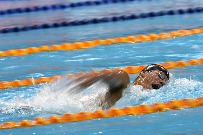 Benedict Boon competes in the 1500m freestyle heats at the National Swimming Championships on 21 March 2015.