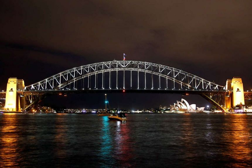 The Sydney Harbour Bridge seen before the tenth anniversary of Earth Hour in Sydney, Australia on March 25, 2017.