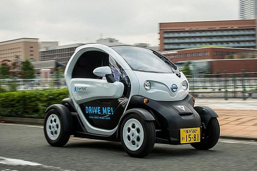 Ultra-compact electric vehicles (above).