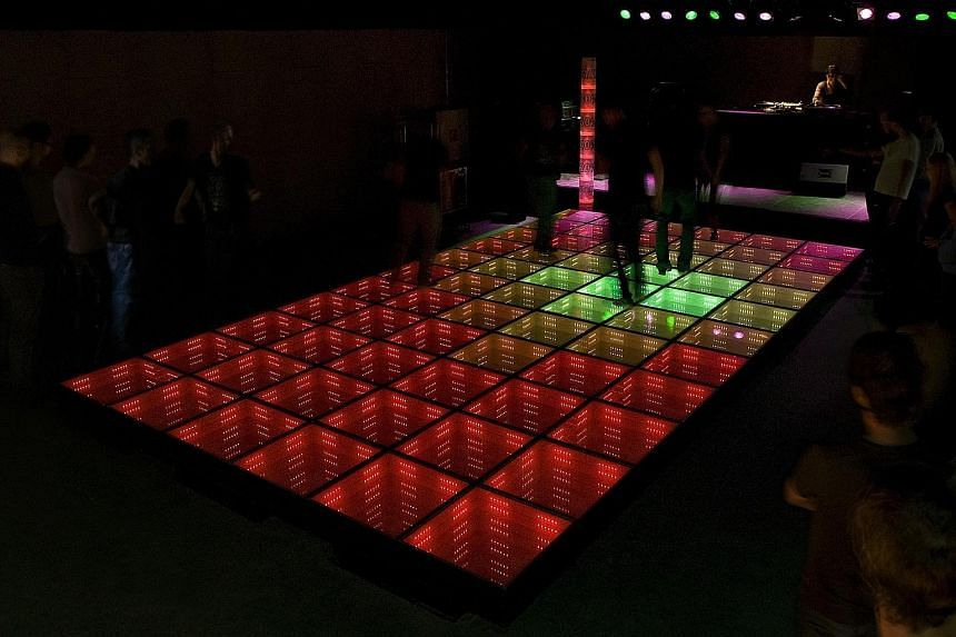 Mr Daan Roosegaarde's works include Waterlicht near Westervoort; the Sustainable Dance Floor (above) in Rotterdam; and the Van Gogh-Roosegaarde Path in Brabant, all in the Netherlands.