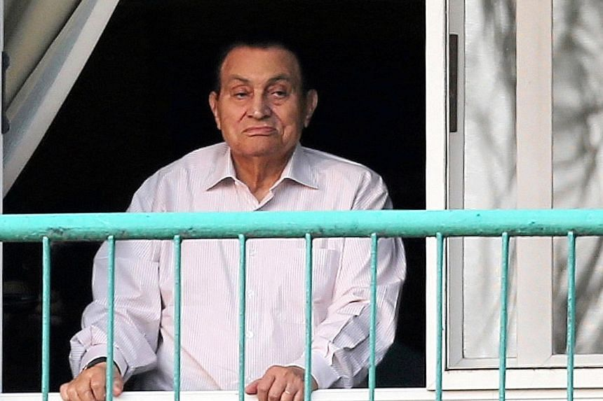 Mr Mubarak in hospital last October. He became the first leader to face trial after the Arab Spring uprisings that swept the region, and has remained defiant since his ouster in 2011.