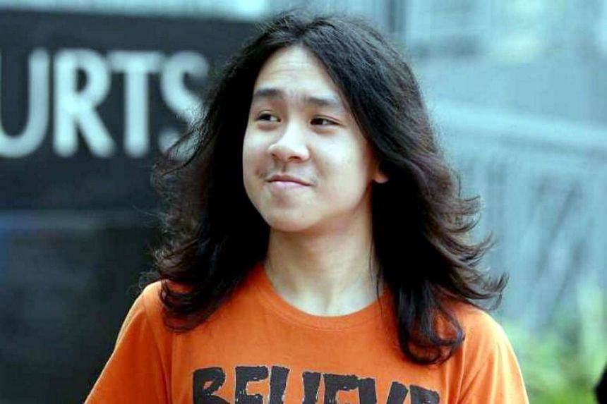 Amos Yee arriving at the State Courts, on Aug 17, 2016.
