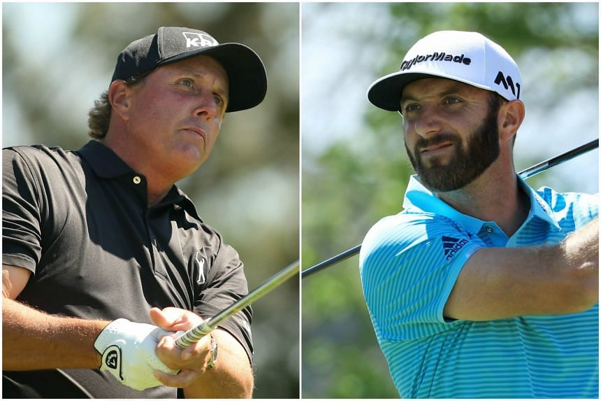 Phil Mickelson (left) is a five-time Major winner, while Dustin Johnson is the current World No. 1.