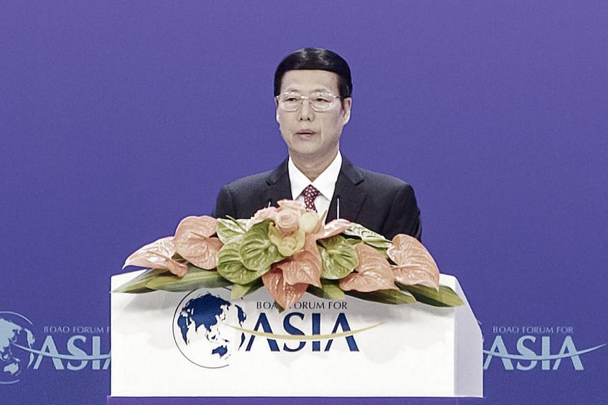 Major countries should bolster mutual trust and respect, and stick to dialogue to settle disputes, China's Vice Premier Zhang Gaoli said at the opening of the Boao Forum for Asia on Saturday (March 25).